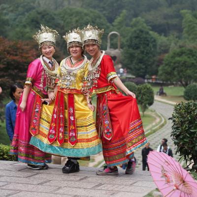 Touristinnen in Folklore